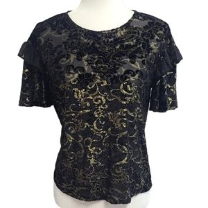 Altar'd State Ruffled Sheer Blouse size Small
